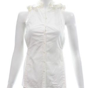 Yves Saint Laurent Ruffled Top X-Small